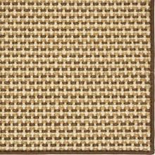 See Details - Basketweave Sisal Neutral Tri Color 12'x15' / Leather Border