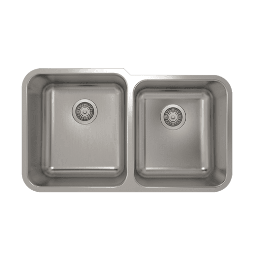 Pro Chef - ProInox E200 Double Bowl Undermount Kitchen Sink ProInox E200 18-gauge Stainless Steel, L15X17X9 R14X16X8
