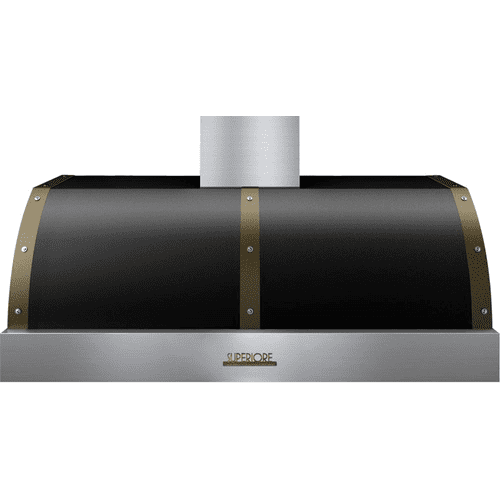 Hood DECO 48'' Black matte, Bronze 1 power blower, electronic buttons control, baffle filters