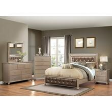 3PC Queen Bed, Dr/Mr, NS