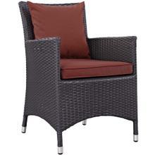 Convene Dining Outdoor Patio Armchair in Espresso Curant