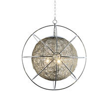3-Light Orb Chandelier in Chrome Finish