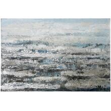 See Details - Silver Solvent  59in X 39in  Original Heavy Textured Hand Painted Abstract Stretched Canvas
