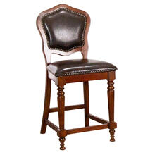 See Details - Bellagio Upholstered Barstools w/Backs (Set of 2)
