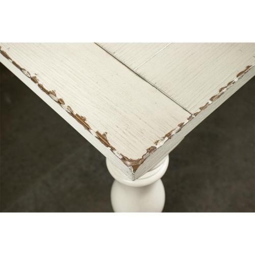 Riverside - Aberdeen - Rectangular Dining Table - Weathered Worn White Finish