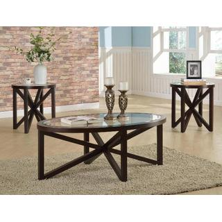 Cole Cherry 3 pc. Table Set