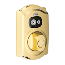 Camelot trim Programmable Electronic Deadbolt - Bright Brass