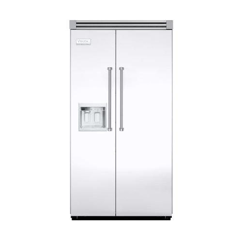 """Viking - White 42"""" Side-by-Side Refrigerator/Freezer with Dispenser - VISB (Integrated Installation)"""