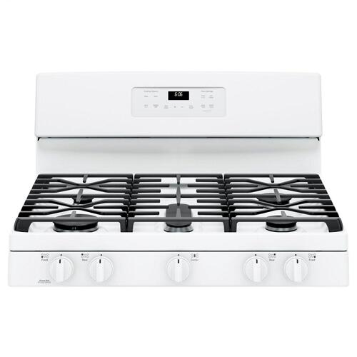 "SAVE BIG - ORDERED IN ERROR / LP (LIQUID PROPANE) GE® 30"" WHITE 5 BURNER Free-Standing Gas Range"