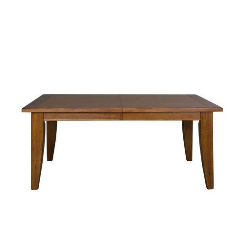 Rectangular Leg Table - Oak