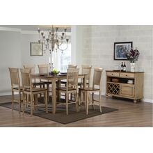 "DLU-BR4848CB-B70-SRPW10PC  10 Piece 48"" Square Pub Set with Fancy Slat Stools and Server"