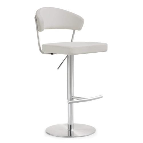 Tov Furniture - Cosmo Light Grey Steel Adjustable Barstool