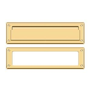 "Mail Slot 13 1/8"" with Interior Frame - PVD Polished Brass Product Image"
