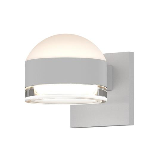 Sonneman - A Way of Light - REALS® Up/Down LED Sconce [Color/Finish=Textured White, Lens Type=Dome Lens and Clear Cylinder Lens]