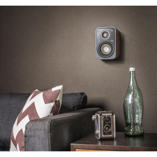 American HiFi Home Theater Compact Satellite Surround Speaker in Classic Brown Walnut