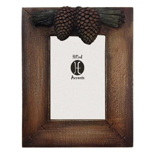 """Pine Cone Picture Frame (4x6/8x10) - 8"""" X 10"""""""