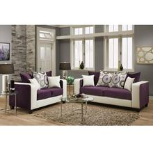 Riverstone Implosion Purple Velvet Living Room Set