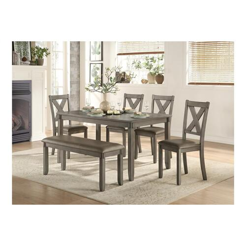 Dining Table with 4 Chairs and Bench