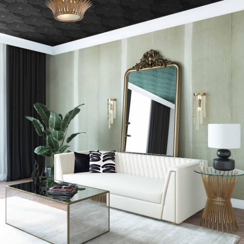 Tov Furniture - Wafa Cream Velvet Sofa