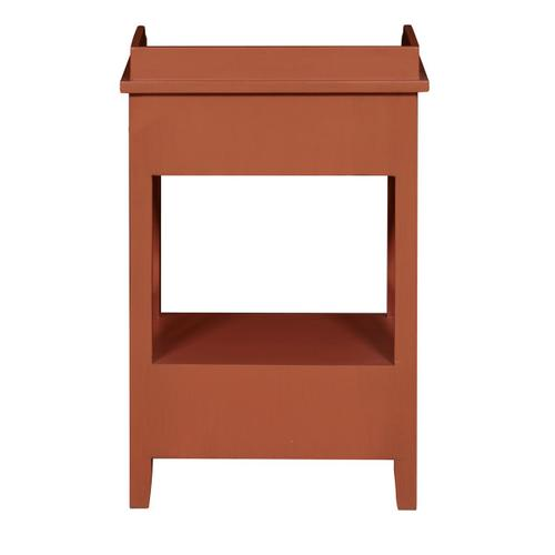 Two Drawer X Side End Table in Terracotta Orange