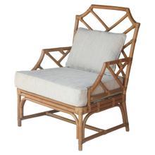 Kara Rattan Accent Arm Chair, Canary Brown