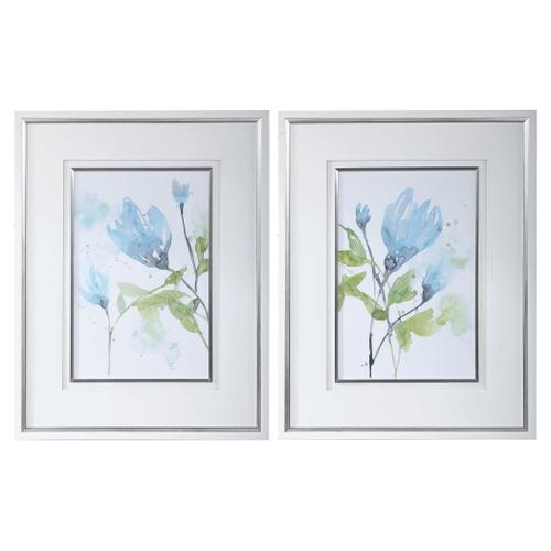 Uttermost - Cerulean Splash Framed Prints, S/2