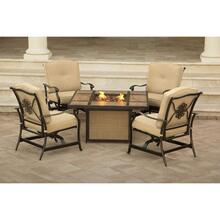 Hanover Traditions 5-Piece Outdoor Lounge Set with Tile-top Fire Pit, TRADTILE5PCFP