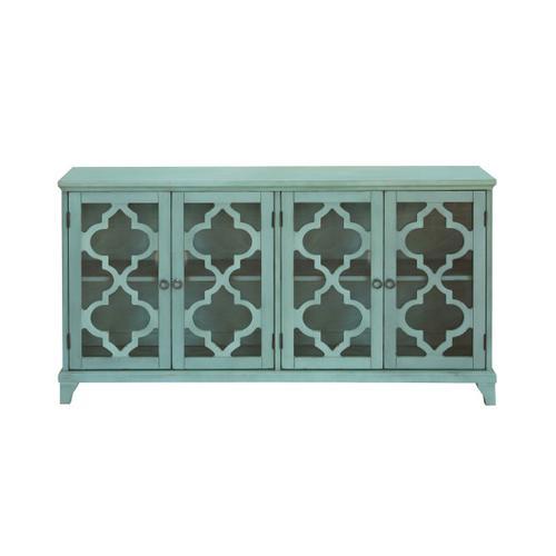 Accentrics Home - Blue Four Door Cabinet