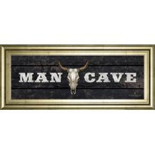 """Man Cave-Bull"" By Redneck Riviera Framed Print Wall Art"