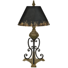 Distressed Scroll Table Lamp. 60W Max. (CB172492) (2 pc. assortment)