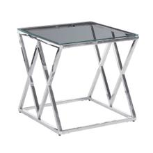 Silver/glass Diamond Accent Table, Kd