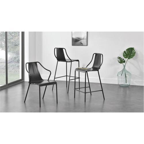 Callum Metal Chair, Metallic Gunmetal