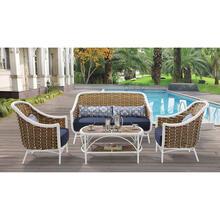 Hanover Athens 4-Piece Patio Set in Navy Blue, ATH-4PC-NVY