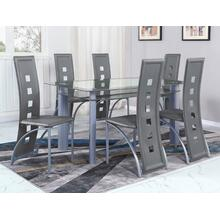 Echo Grey Dining Table Glass Top