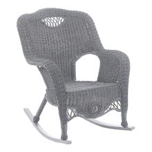 Riviera Resin Wicker/ Aluminum Outdoor Rocking Chair - Weathered Gray