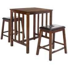 See Details - Ilana 3 Piece Pub Set - Chestnut / Black