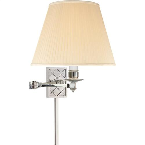 Visual Comfort AH2012PN-S Alexa Hampton Gene 20 inch 100 watt Polished Nickel Swing-Arm Wall Light