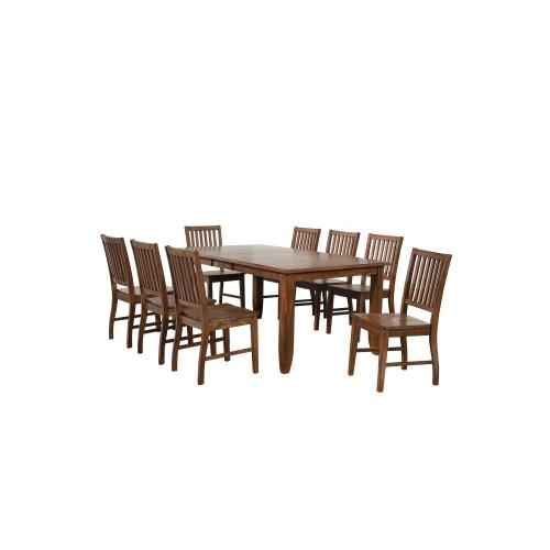 Extendable Table Dining Set - Amish (9 Pieces)
