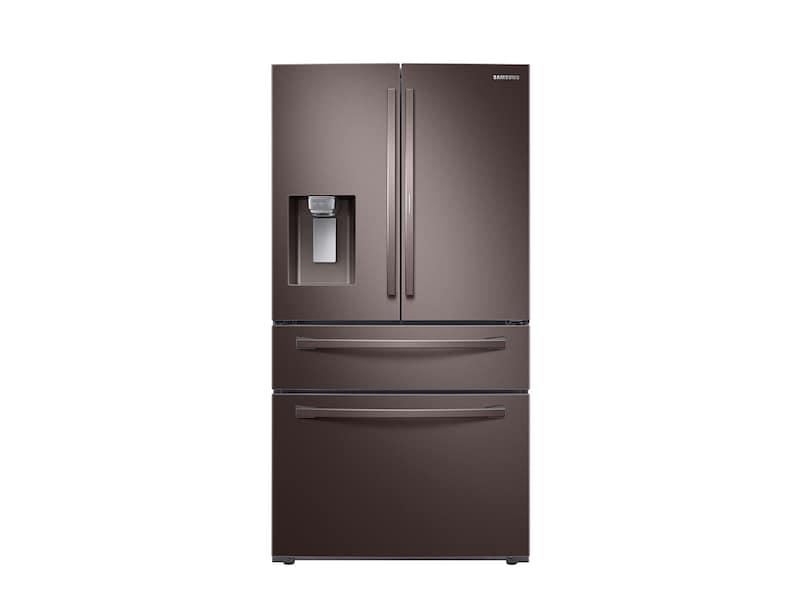Samsung22 Cu. Ft. Food Showcase Counter Depth 4-Door French Door Refrigerator In Tuscan Stainless Steel