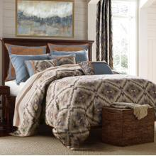 Sahara 6-pc Bedding Set, Blue & Brown - King