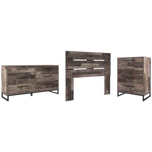 Ashley - Full Panel Headboard With Dresser and Chest