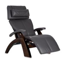Perfect Chair PC-LiVE™ - Gray Premium Leather - Dark Walnut