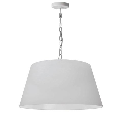 1lt Brynn Medium Pendant, Wht Shade, White