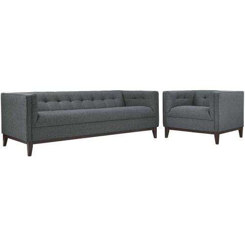 Serve Living Room Set Set of 2 in Gray