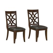 Wellsville 2-Pack Upholstered Side Chair, Cherry Brown