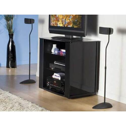 Black Home Theater Series Adjustable height for satellite speakers