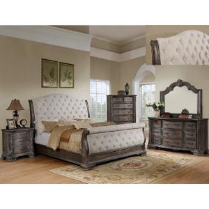 B1120 Sheffield Grey Sleigh Queen Bedroom