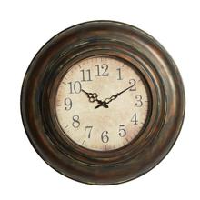 "METAL WALL CLOCK 24""D"
