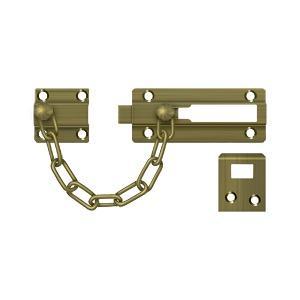 Deltana - Door Guard, Chain / Doorbolt - Antique Brass