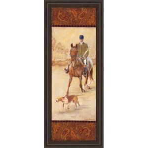 """""""On The Hunt Il"""" By Linda Wacaster Framed Print Wall Art"""